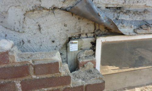 asbest muur